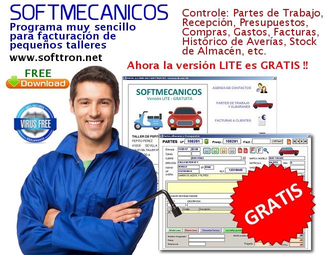 Programa para talleres gratuito Softmecanicos