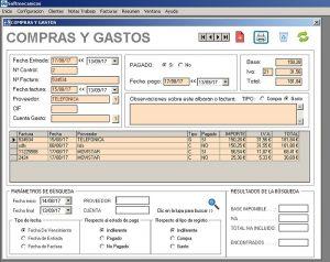 Programa taller mecanico: Compras y gastos