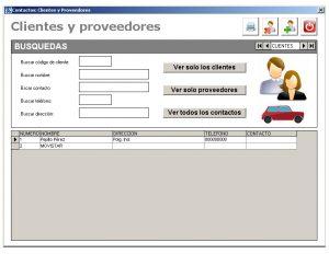 Softmecanicos: Gestion de clientes y proveedores